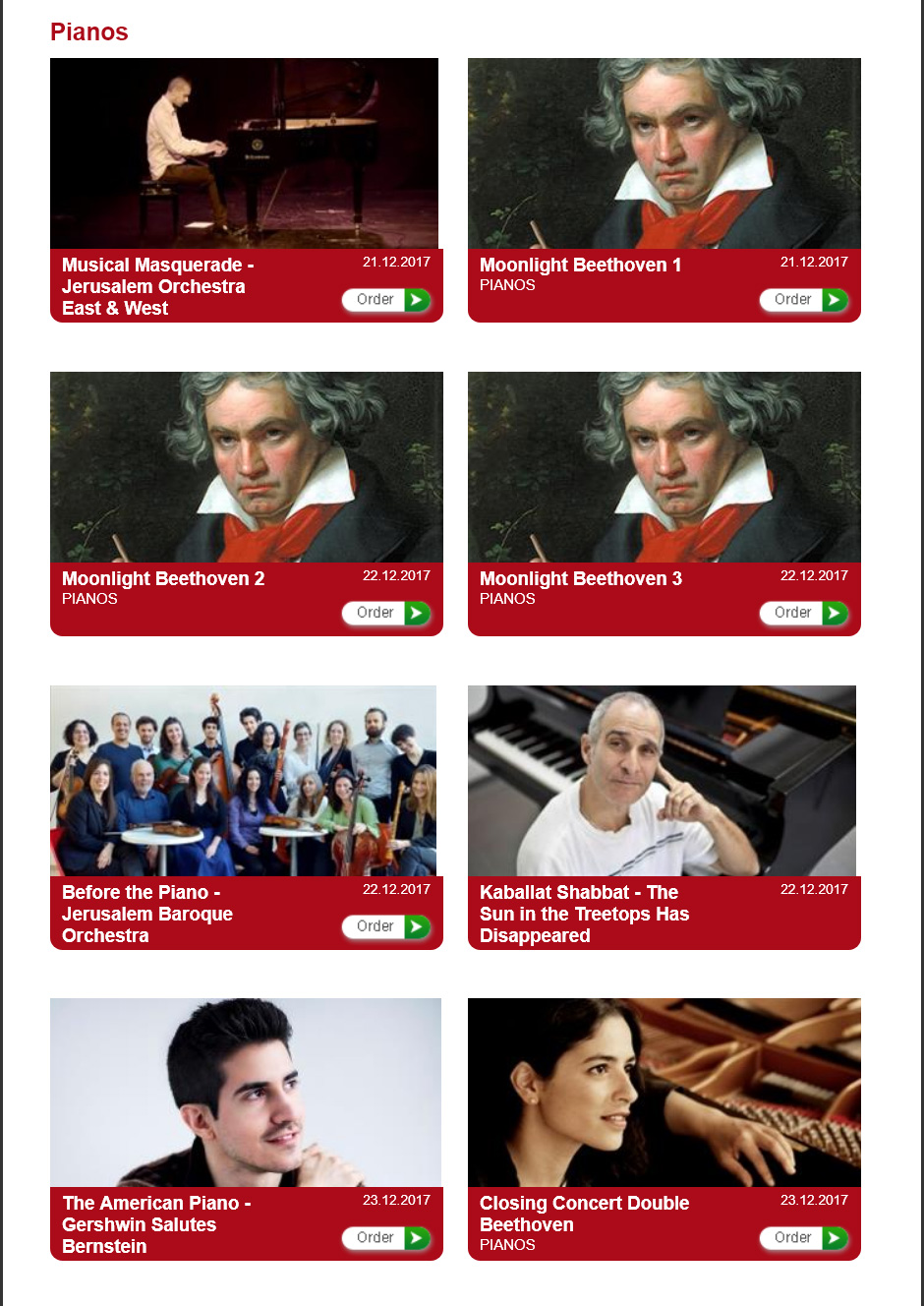Festival des pianos au théâtre de Jérusalem