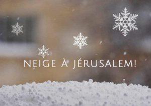 neige jerusalem